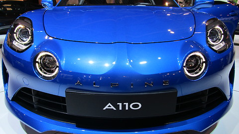 Alpine A110 at Autosalon Brussel 2018