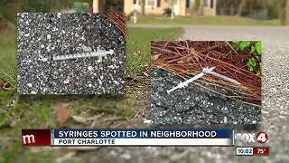 Woman finds used syringes in Port Charlotte neighborhood - Video