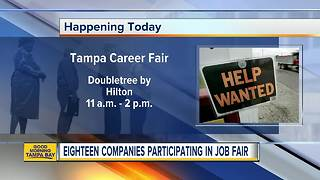 Eighteen companies participating in job fair in Tampa on Wednesday