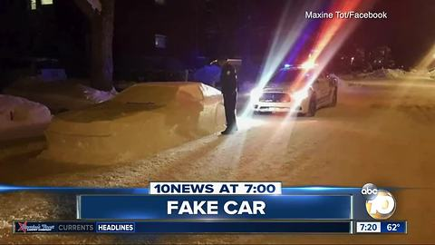 Cop duped by fake car?