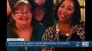 Daughter share heartbreaking goodbye with mother