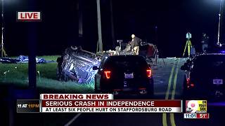 Serious crash involving 6 people in Independence - Video