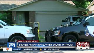 Broken Arrow homeowner shoots intruder - Video