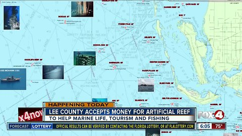 Lee County works to place artificial reef in Gulf to help lost marine life from red tide