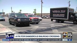 Phoenix moving forward with fix to dangerous railroad crossing - Video