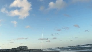 OSIRIS-REx Spacecraft Soars Over Cocoa Beach Waters - Video