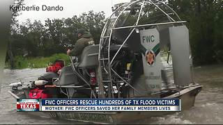 From Florida to Texas FWC officers rescue hundreds of Texans - Video