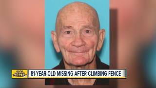 81-year-old man missing after climbing 6-foot fence at Lakeland assisted living facility - Video