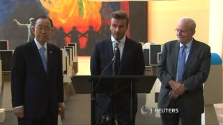 David Beckham pleads to global leaders - Video