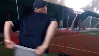 Amazing Softball trick shot!  - Video