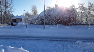 Record Snow in Iceland Overnight - Video