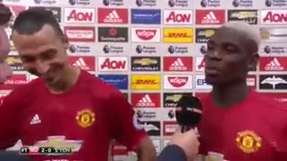 Pogba and Ibrahimovic banter in the post match interview - Video