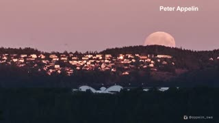 Time-lapse video shows total lunar eclipse from Sweden - Video