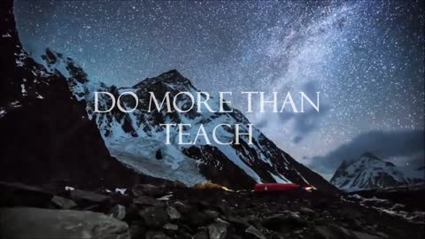 Inspirational message dares you to be more than you ever thought possible