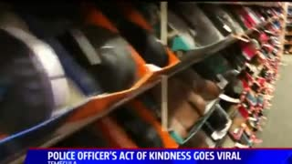 California Police Officer's Act of Kindness Goes Viral - Video