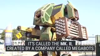This American mega robot was built to fight another giant robot from Japan - Video