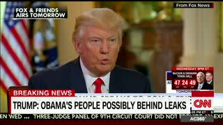 President Trump Says Obama Is Behind Leaks - Video