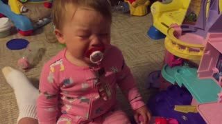 Baby cries every time Ariel from 'Little Mermaid' sings - Video