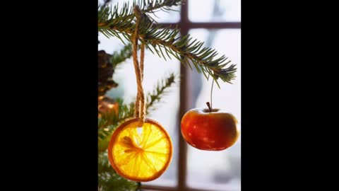 DIY: Creative Christmas fruit decorations and ornaments