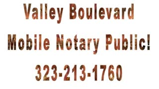 Valley Boulevard Mobile Notary Public-Drummers Comminge - Video