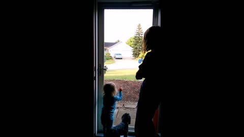 Toddler Reacts to Helicopter and Garbage Truck