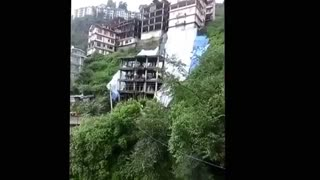 OMG! Never seen Building collapse live like this. - Video