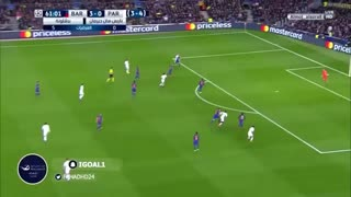 FC Barcelona 6 : 1 PSG - Goles - Video