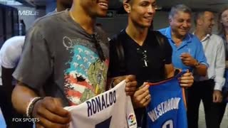 Russell Westbrook & Cristiano Ronaldo Hang Out In Spain - Video