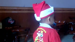 My son dressed in Christmas  - Video