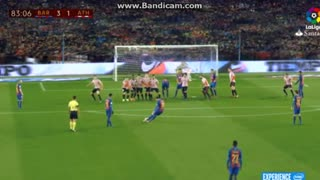 Espectacular! La falta magistral de Leo Messi, en 360 grados - Video