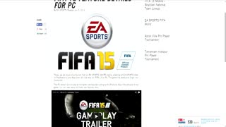 FIFA 15 ON PC TO USE THE IGNITE ENGINE! - Video