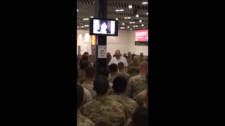 Philanthropist Buys Meal For 400 Soldiers At Airport - Video