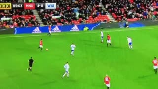 Martial linkup play with Juan Mata vs Wigan - Video