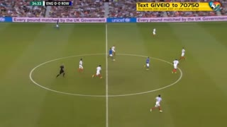 Ronaldinho double nutmegs during Soccer Aid - Video