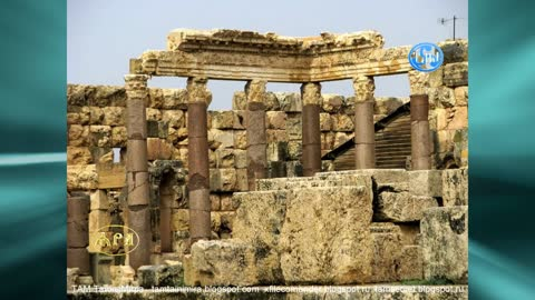The ruins of the ancient city of Baalbek in Lebanon