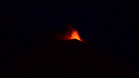 Stunning footage of Mount Etna eruption