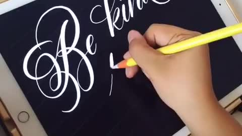 """Be Kind to one Another"" Digital Calligraphy on the iPad Pro"
