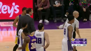 DeMarcus Cousins WRECKS Julius Randle, Luke Walton SNAPS, Gets Ejected - Video