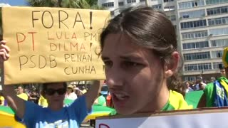 Brazil protests aim to oust embattled President Rousseff - Video