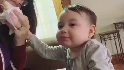 Baby Gets Adorably Frustrated When Pranked By Mom