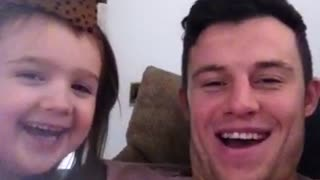 Welsh uncle and niece singing Irish National anthem - Video