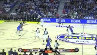 Russell Westbrook & Victor Oladipo DUNK HARD On Real Madrid - Video