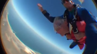 100 year-old grandmother skydives for birthday