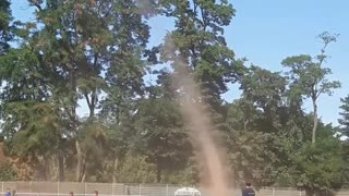 Dust Devil on the Soccer Field - Video