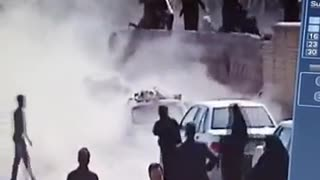 Wall collapses in Ashura day in Rafsanjan- Iran - Video