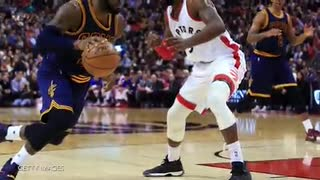 Lebron Injured After Alley Oop From Kyrie Irving - Video