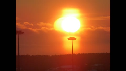 Incredible alien nibiru sunset