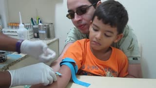 Boy Gets Blood Drawn - Video