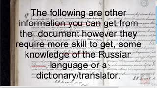 How to get information from a birth certificate written in Russian
