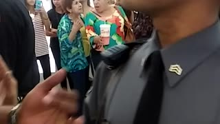 Police Detain Civilian in Willowbrook Mall - Video